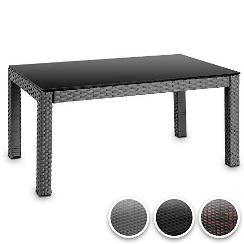 gartentisch in rattan optik 150x90x72cm kunststoff gartenm bel terrassenm bel terrassentisch. Black Bedroom Furniture Sets. Home Design Ideas