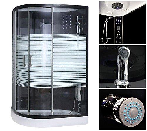 Home Deluxe Black Pearl 120x80 cm links Duschtempel, inkl. Dampfsauna und komplettem Zubehör