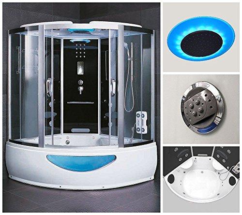 home deluxe exclusive duschtempel inkl whirlpool und. Black Bedroom Furniture Sets. Home Design Ideas