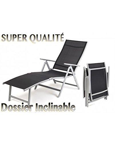 homekraft florence aluminium gartenliege sonnenliege 7. Black Bedroom Furniture Sets. Home Design Ideas