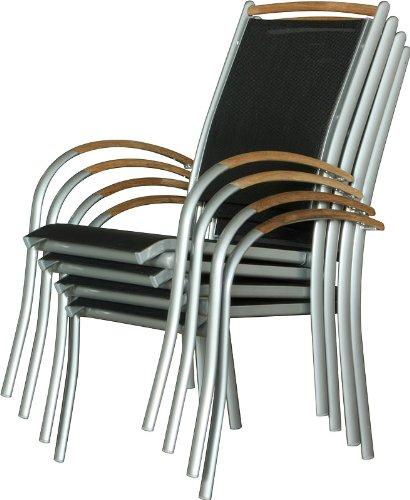 teakholz gartenst hle 4er set mit armlehnen holz stuhl. Black Bedroom Furniture Sets. Home Design Ideas