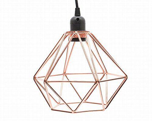Industrial Style Kupfer, Deckenlampe, Modern, Stoff, mit Kordel, Schwarz
