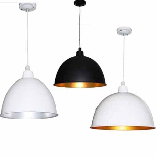 Industrielampe Hängelampe Pendellampe Deckenleuchte Weiß/Gold