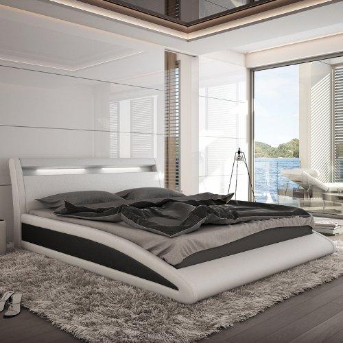 Innocent Polsterbett weiß / schwarz mit Kunstleder Bezug Balisani 140x200 cm