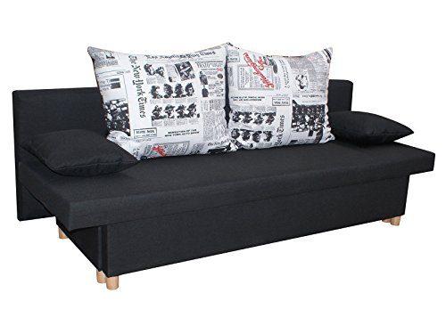 Inter Sofa Boss schwarz Schlafsofa