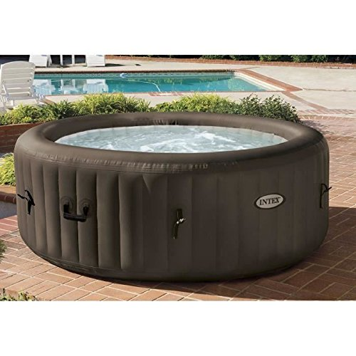 Intex 28424 Pure Spa Jet Massage mit Fiber-Tech Konstruktion Whirlpool Sprudelbad