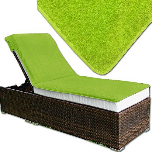 JEMIDI Frottee Schonbezug für Gartenliege oder Massage / Relaxing Liege Bezug Strandliege Liegenbezug Auflage Liege (Grün)