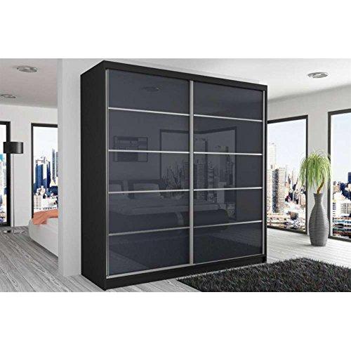 justhome beauty ix schwebet renschrank kleiderschrank garderobenschrank 218x200x60 cm farbe. Black Bedroom Furniture Sets. Home Design Ideas