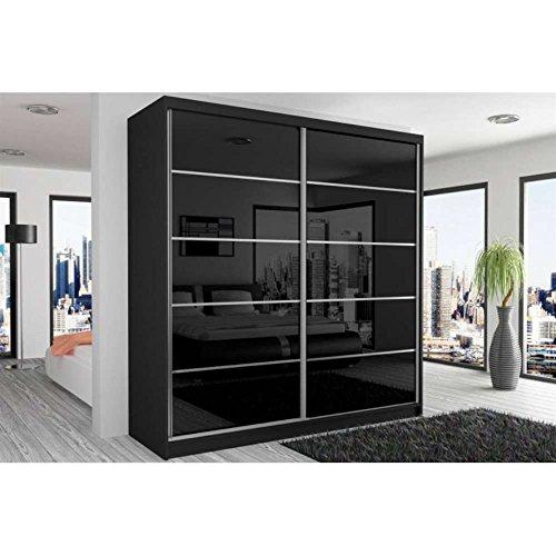 justhome beauty vi schwebetrenschrank kleiderschrank garderobenschrank 218x200x60 cm farbe. Black Bedroom Furniture Sets. Home Design Ideas