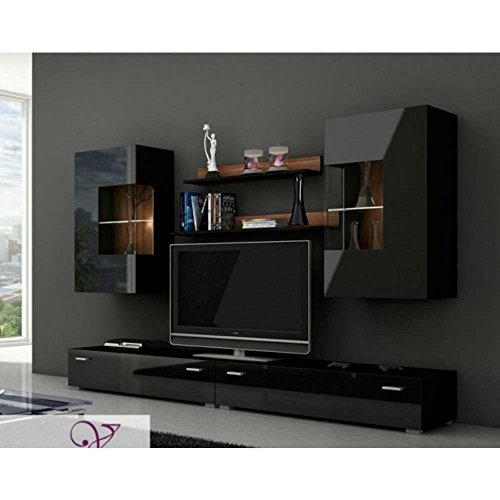 justhome berlin wohnwand anbauwand schrankwand farbe. Black Bedroom Furniture Sets. Home Design Ideas