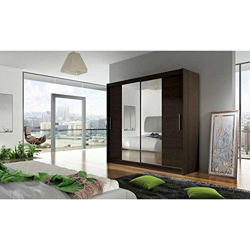 justhome dallas schwebet renschrank kleiderschrank garderobenschrank hxbxt 215x180x58 cm. Black Bedroom Furniture Sets. Home Design Ideas