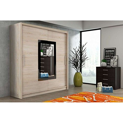 justhome klein ix schwebet renschrank kleiderschrank garderobenschrank sonoma eiche hxbxt. Black Bedroom Furniture Sets. Home Design Ideas