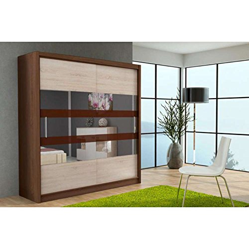 justhome klein xi schwebet renschrank kleiderschrank garderobenschrank sonoma i sonoma ii hxbxt. Black Bedroom Furniture Sets. Home Design Ideas