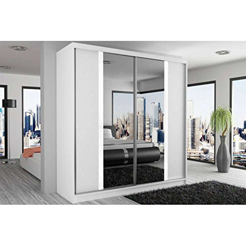 justhome mirror ii schwebet renschrank kleiderschrank garderobenschrank 218x133x60 cm farbe. Black Bedroom Furniture Sets. Home Design Ideas