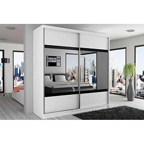 justhome mirror vi schwebet renschrank kleiderschrank garderobenschrank 218x133x60 cm farbe. Black Bedroom Furniture Sets. Home Design Ideas