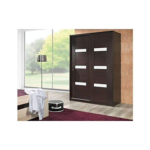 justhome orlando 140 schwebet renschrank kleiderschrank garderobenschrank wenge wei hxbxt. Black Bedroom Furniture Sets. Home Design Ideas