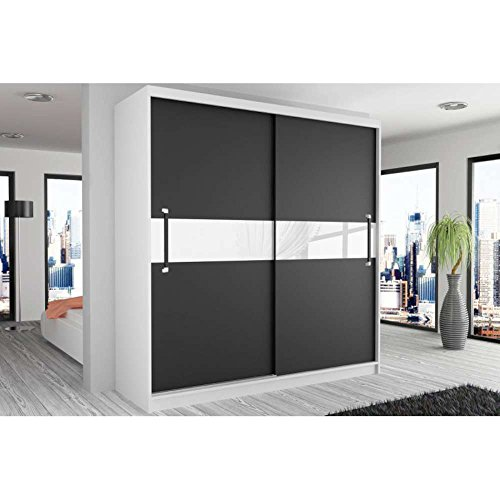 justhome simply ii schwebet renschrank kleiderschrank garderobenschrank 218x133x60 cm farbe. Black Bedroom Furniture Sets. Home Design Ideas