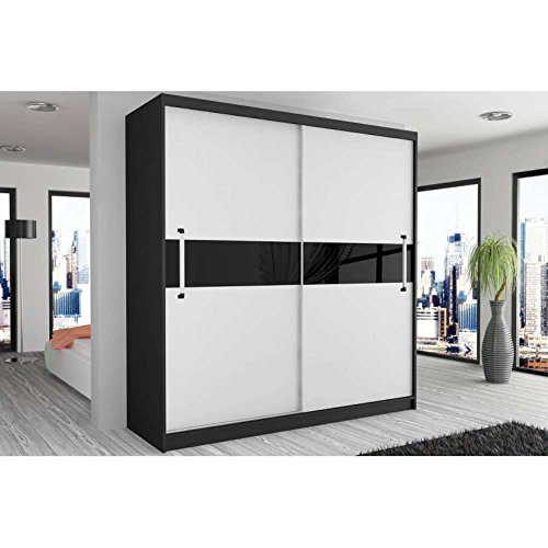 justhome simply iii schwebet renschrank kleiderschrank garderobenschrank 218x133x60 cm farbe. Black Bedroom Furniture Sets. Home Design Ideas