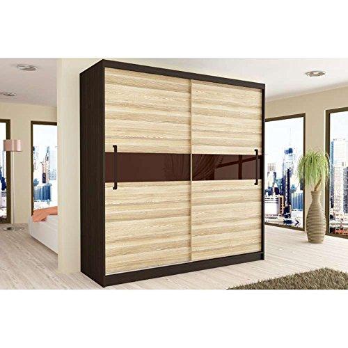 justhome simply iv schwebet renschrank kleiderschrank garderobenschrank 218x133x60 cm farbe. Black Bedroom Furniture Sets. Home Design Ideas
