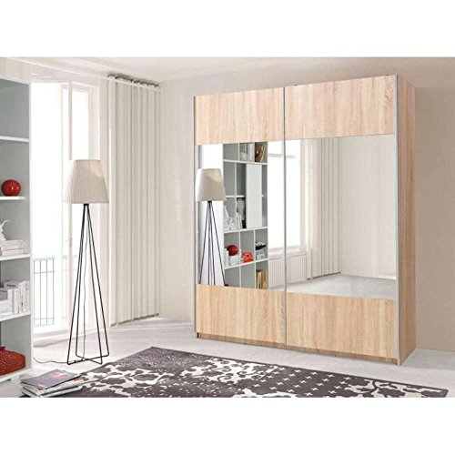 justhome vario schwebet renschrank kleiderschrank garderobenschrank hxbxt 211x175x60 cm farbe. Black Bedroom Furniture Sets. Home Design Ideas