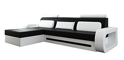 jvmoebel ecksofa ledersofa schlafsofa davos 1 mit bettfunktion m glich dunkelbraun beige. Black Bedroom Furniture Sets. Home Design Ideas