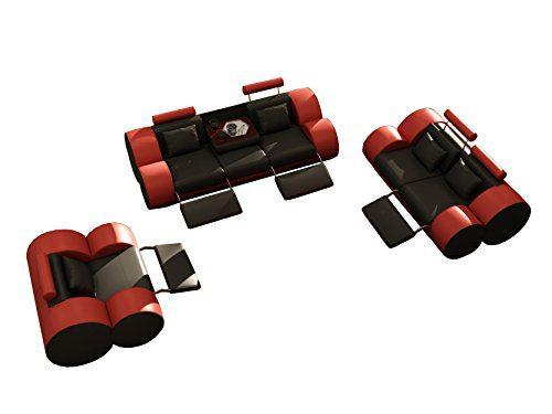 JVmoebel LEDERSOFA SOFAGARNITUR MADRID 3+2+1 SITZER, Braun/Weiß, 3-Sitzer: ca. 224 x 105 x 84cm, 2-Sitzer: ca. 166 x 105 x 84cm, 1-Sitzer: ca. 110 x 105 x 84cm, Leder
