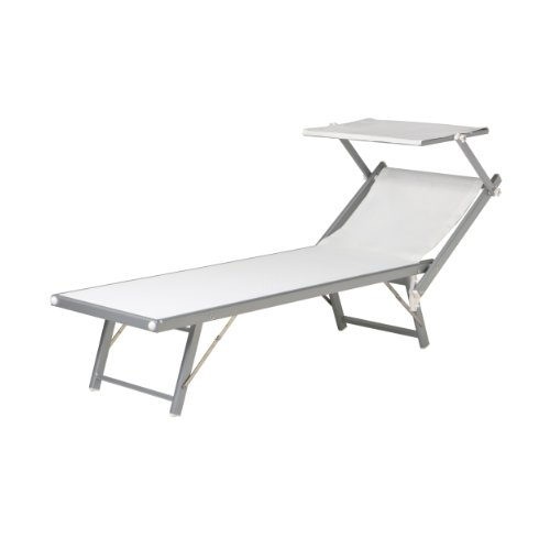 jan kurtz sonnenliege aluminium mit sonnendach wei capri m bel24. Black Bedroom Furniture Sets. Home Design Ideas