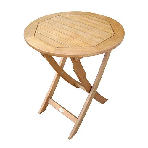 klapptisch 80 cm rund f r garten und balkon aus eukalyptus hartholz ge lt m bel24. Black Bedroom Furniture Sets. Home Design Ideas