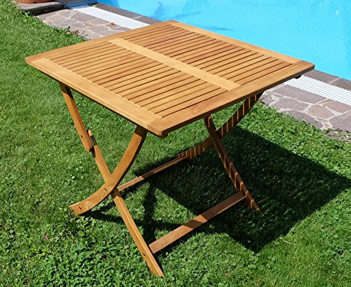 klapptisch holztisch gartentisch garten tisch 80x80cm ge lt holz eukalyptus wie teak von as s. Black Bedroom Furniture Sets. Home Design Ideas