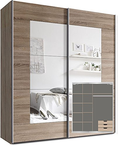 schwebet renschrank madrano 30 wei hochglanz 270 cm breit m bel24. Black Bedroom Furniture Sets. Home Design Ideas