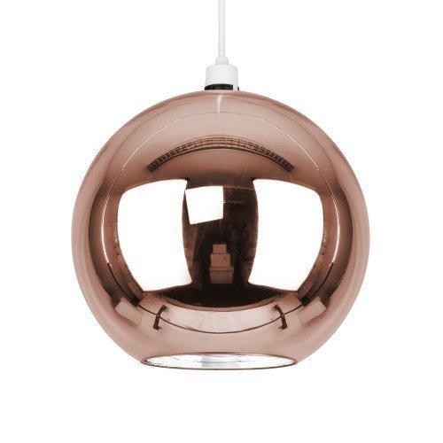 """Kleiner, moderner und kupferfarbiger Lampenschirm im """"Mini Arco"""" Stil mit Retro Kuppel Design - für Hänge- und Pendelleuchte"""