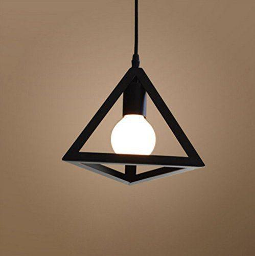 Kreative Hängeleuchte Pendelleuchte Metall Symmetrische geometrische Form E27 Fassung 1 x E27 Max. 60W ø27cm (Schwarze)