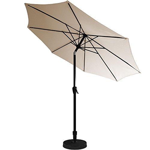 kurbel sonnenschirm 3m h2 5m gartenschirm aluminium kurbelschirm sonnenschutz beige m bel24. Black Bedroom Furniture Sets. Home Design Ideas