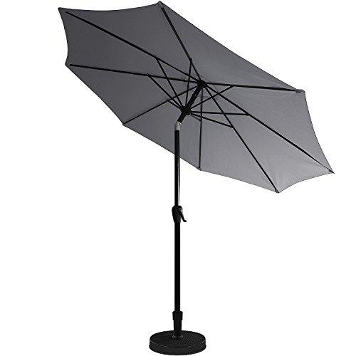 kurbel sonnenschirm 3m h2 5m gartenschirm aluminium kurbelschirm sonnenschutz grau m bel24. Black Bedroom Furniture Sets. Home Design Ideas