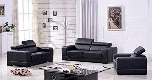 Ledersofa 3+2+1 Sofa Couch Sitzgarnitur Sofas Sitzgruppe 2017-3+2+1-S