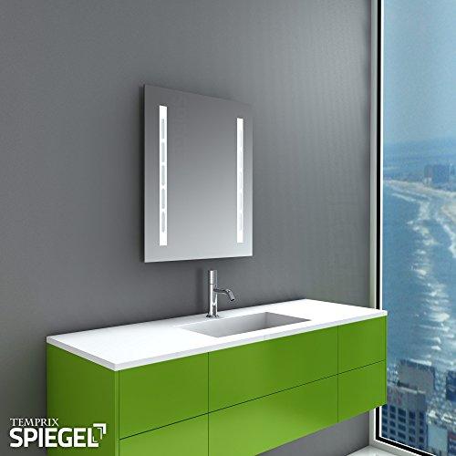 Leuchtspiegel Badspiegel Wandspiegel mit Beleuchtung Piano 60 x 50 cm