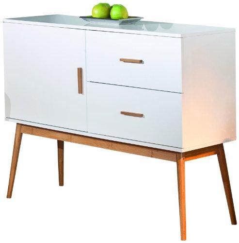 links 20901700 kommode bambus retro design anrichte wohnzimmer wohnkommode 1 t rig 2 schubladen. Black Bedroom Furniture Sets. Home Design Ideas