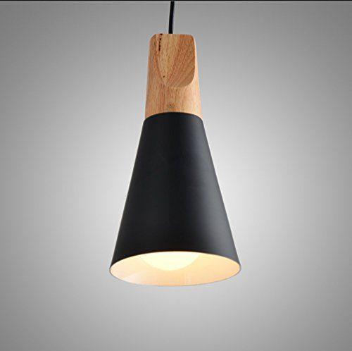 Loft Retro LED Hängeleuchte Deckenlampe Modern Simplicity E27 Fassung Eisen Schwarz Schirm Decke Hängelampe