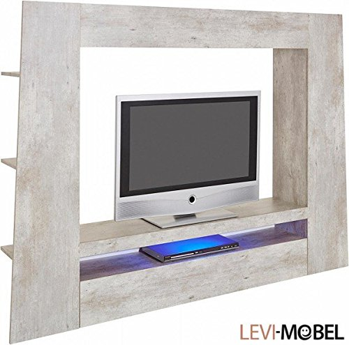 mediawand tv lowboard wohnzimmer wohnwand beton optik neu 318661 m bel24. Black Bedroom Furniture Sets. Home Design Ideas