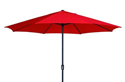 Madison XXL Kurbelschirm Sumatra 400 in rot mit UV-Schutz 40 Plus