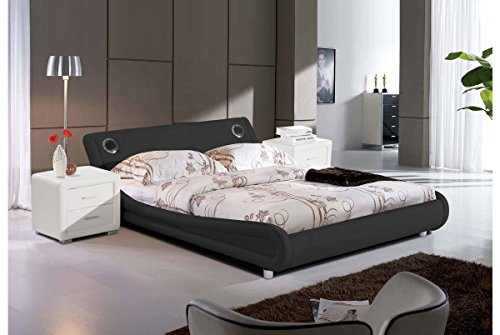 designerbett custo 160 x 200 cm wei modernes design m bel24. Black Bedroom Furniture Sets. Home Design Ideas