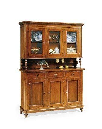 m bel schrank t ren mit glas fenster wie in foto arte povera stil venedig produkt m bel24. Black Bedroom Furniture Sets. Home Design Ideas