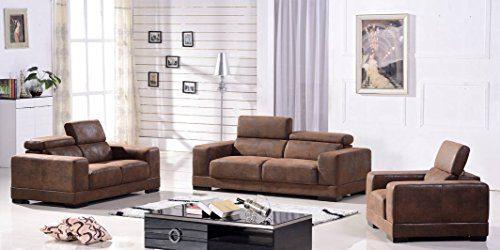 Mikrofasersofa 3+2+1 Sofa Couch Sitzgarnitur Sitzgruppe 2017-3+2+1-VF03