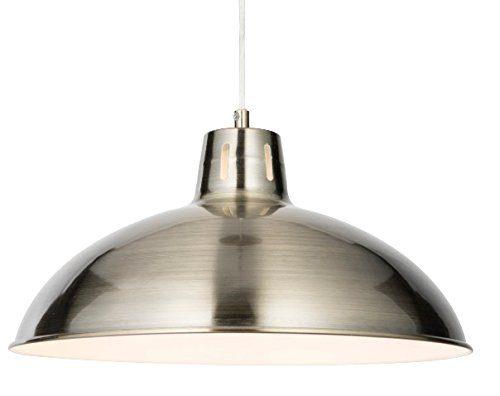 Modern Messing antik Metall Retro Anhänger Deckenleuchte mit Innen weiß, Küche Anhänger Light