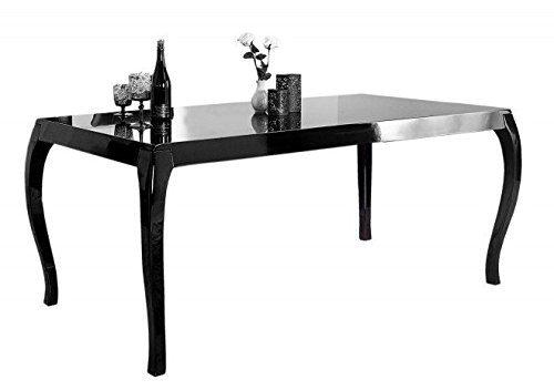 Moderner Barock Esstisch Schwarz Hochglanz 180 cm von Casa Padrino - Esszimmer Tisch