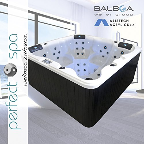 NEU Whirlpool Daytona Beach Premium Lightning Jets Outdoor 5 Personen Hot Tub Jacuzzi Aussenwhirlpool SPA 54 Düsen LED- Düsenlicht