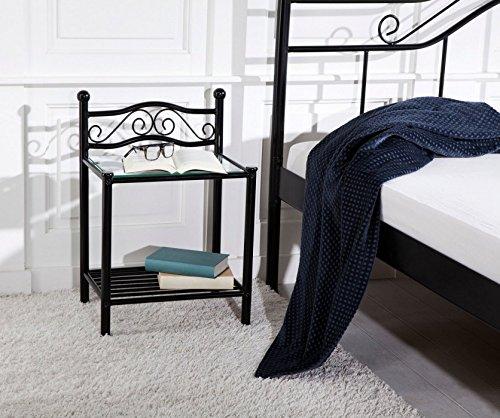 moebel direkt online beistelltisch w rfel hocker nachtkonsole naturfarben m bel24. Black Bedroom Furniture Sets. Home Design Ideas