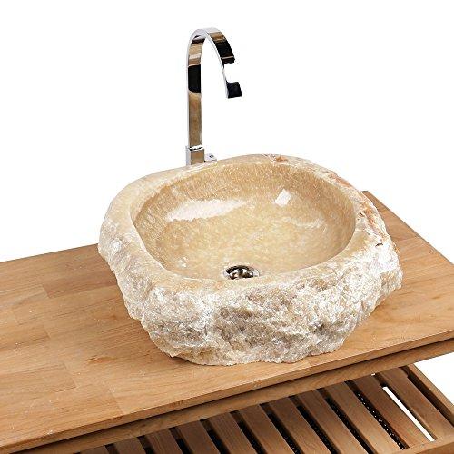 Naturstein Onyx Marmor Waschbecken 54x47x15 cm