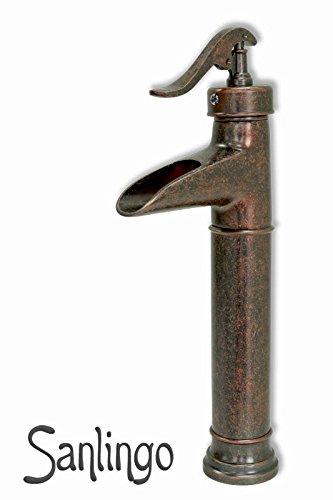 Nostalgie retro bad waschbecken waschschale einhebel for Wasserhahn schwarz bad