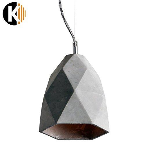 "PREMIUM ZEMENT DESIGN ""HANG-19b"" Deckenlampe Pendelleuchte Pendellampe in Zement Grau, 1x E27 maximal 60 W ohne Leuchmittel"